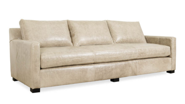 Brevard Leather Sofa 98 x 38 Brompton Smoke Milled by COCOCO Home