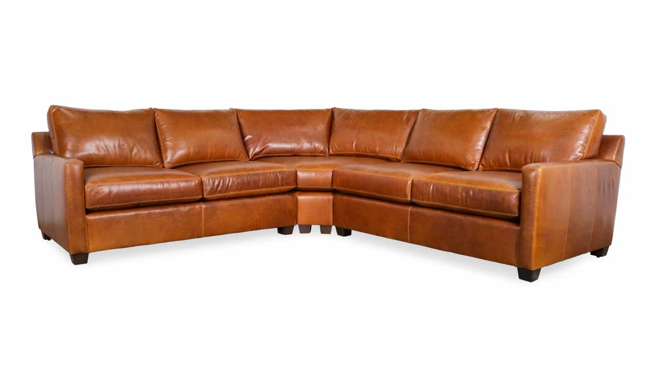 Super Cococo Home Brevard Radius Corner Leather Sectional Made Caraccident5 Cool Chair Designs And Ideas Caraccident5Info