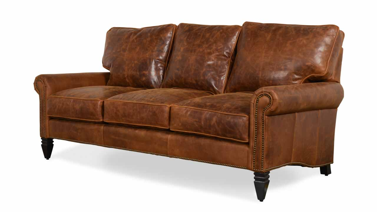 Dilworth Leather Sofa 80 x 38 Biltmore Sycamore