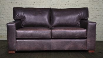 Matthews Leather Loveseat