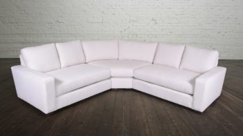 Monroe Radius Corner Leather Sectional