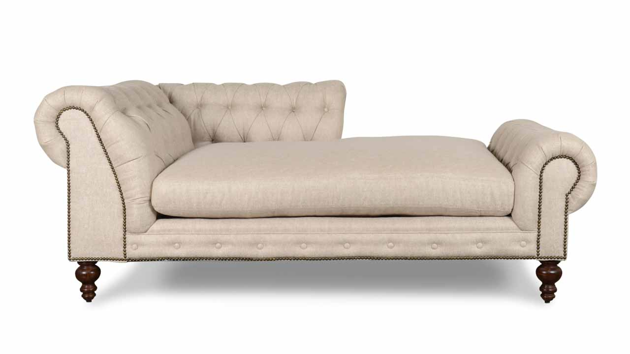 Pippa Fabric Chaise 79 x 39 Chartres Malt Side 2