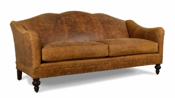 Raleigh Leather Sofa 81 x 30.5 Longhorn Brandy