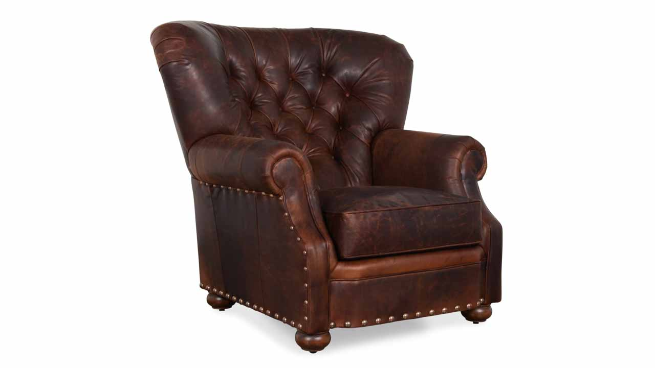 Winston Leather Chair Old Attic Brown