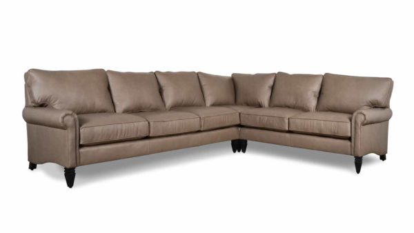 Dilworth Square L Leather Sectional 129 x 99 x 38 Rangers Mushroom