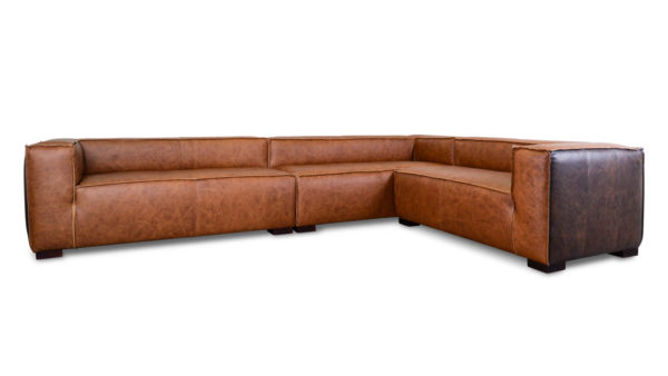 Mondo L Leather Sectional Saloon Leather