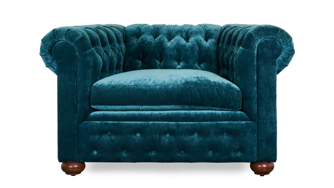 Traditional Chesterfield Fabric Chair Leolaris Elf by COCOCO Home