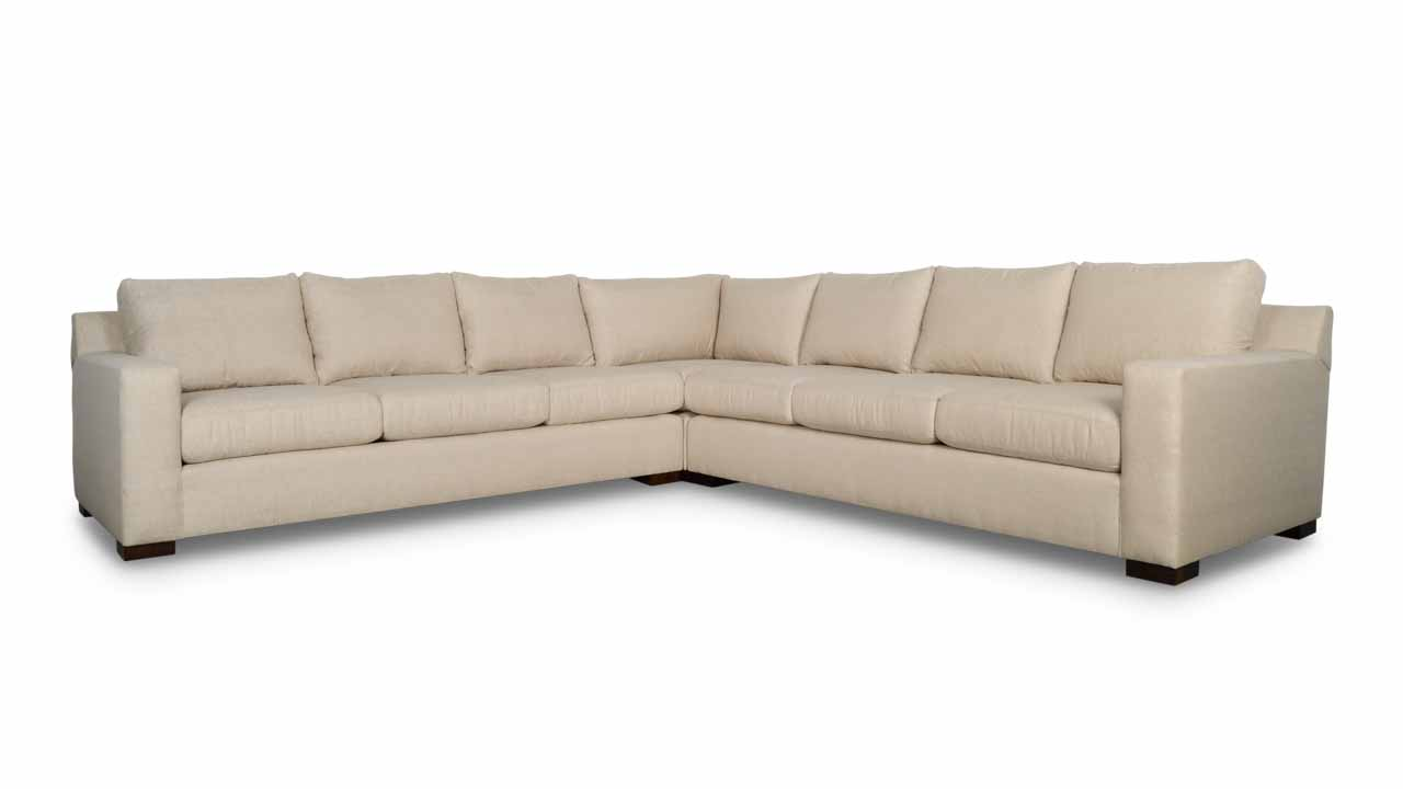 Durham Square Corner Fabric Sectional 128 x 128 x 42 Chartres Malt