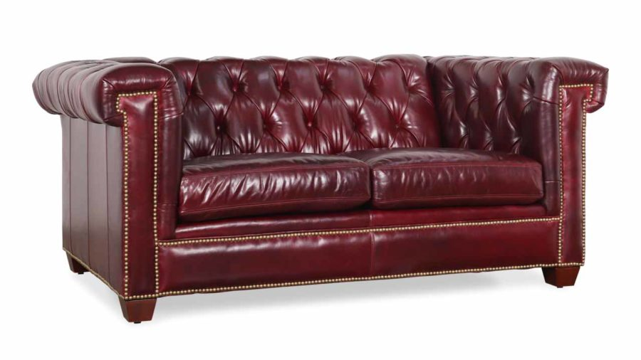 COCOCO Home | Lennox Chesterfield Leather Loveseat- Made ...