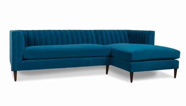 Cococo Home, Clark Single Chaise Fabric Sectional Henry Admiral, mid century modern, art deco